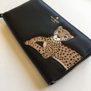 c8c12b09b64a kate spade Bags - Kate Spade Run Wild Leopard Applique Lacey Wallet